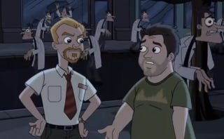 Illustration for article titled See Shaun Of The Dead's Triumphant Return In This Phineas & Ferb Clip