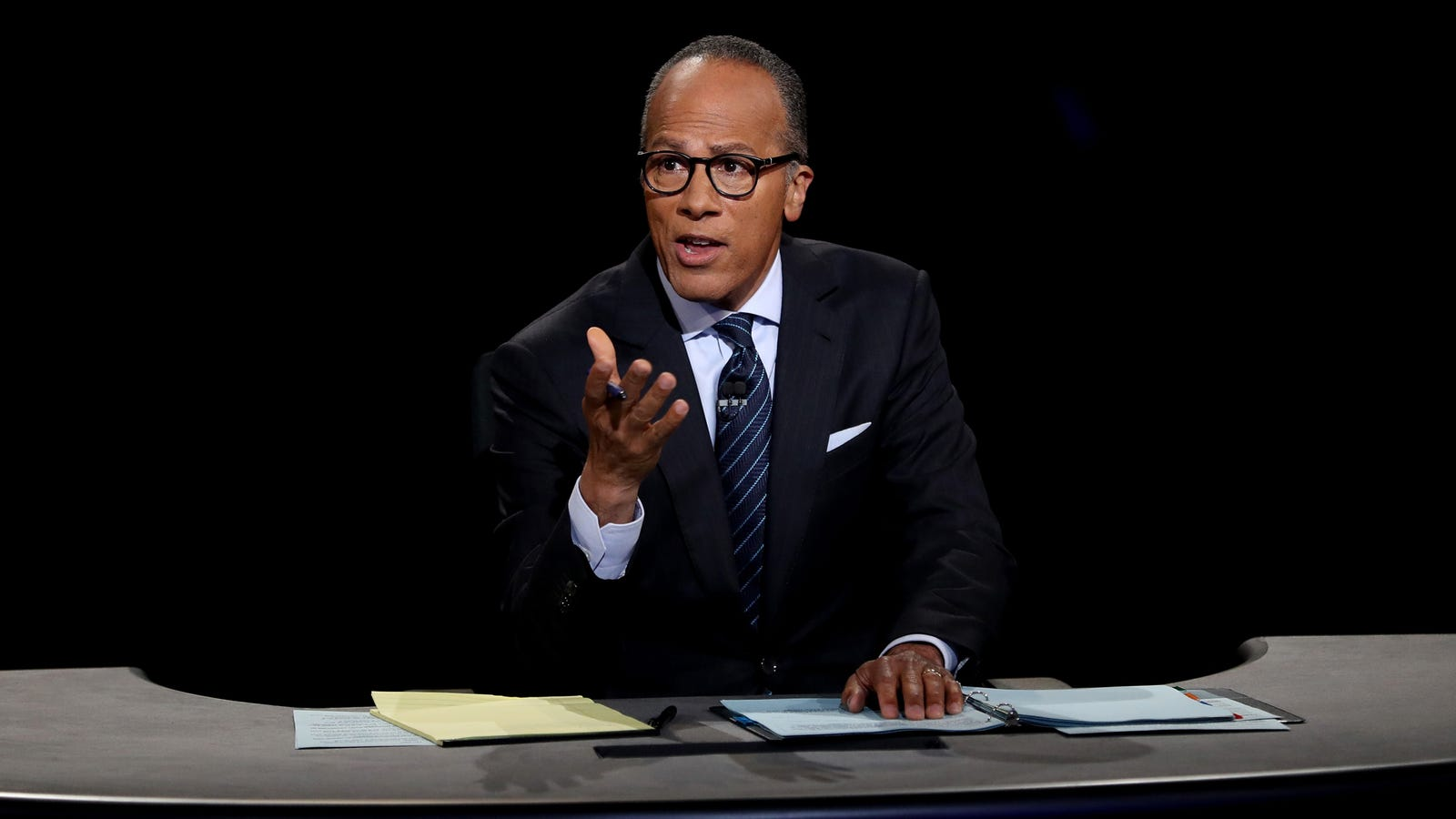 Lester Holt Begins Debate By Reiterating He Doesn't Know Who These Fucking People Are