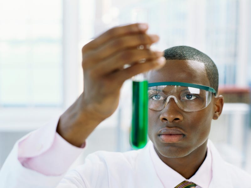 No blacks received doctorates in a number of science-related fields.