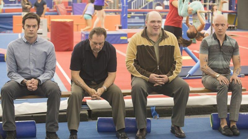 Bill Hader, Stephen Root, Glenn Fleshler, and Anthony Carrigan in Barry