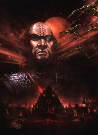 Illustration for article titled The Best Klingon Art To Hang On The Halls Of Sto'Vo'Kor