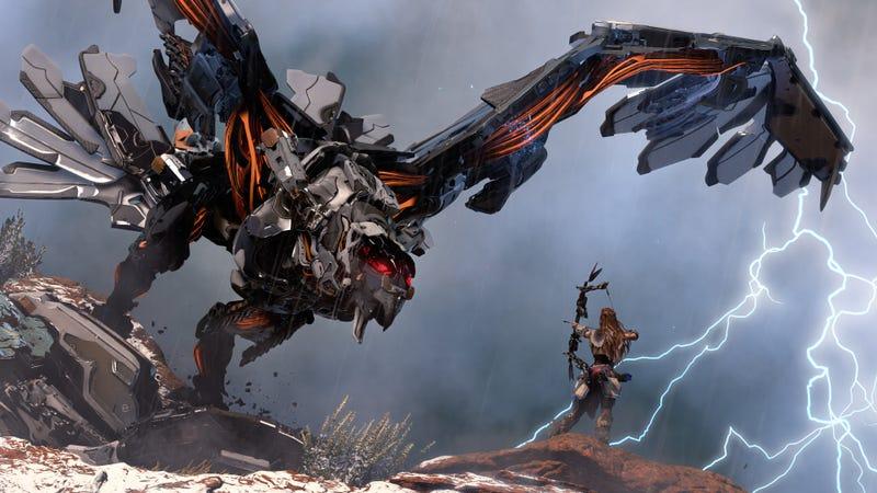 Illustration for article titled Horizon: Zero Dawn, análisis: ven por los dinosaurios robot, quédate por la brutal historia