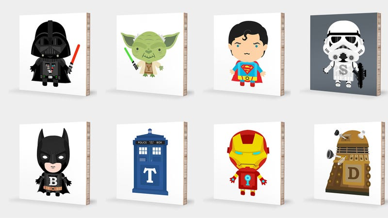 Illustration for article titled Teach your kids their ABCs with Darth Vader and Iron Man art blocks