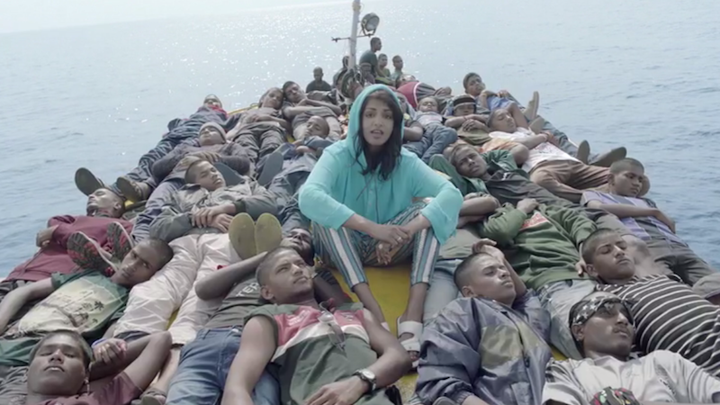 Illustration for article titled M.I.A. Follows Refugees On Journey in Striking Video for 'Borders'