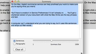 Illustration for article titled Apple's Summarize Service Makes Sure You Get Your Point Across