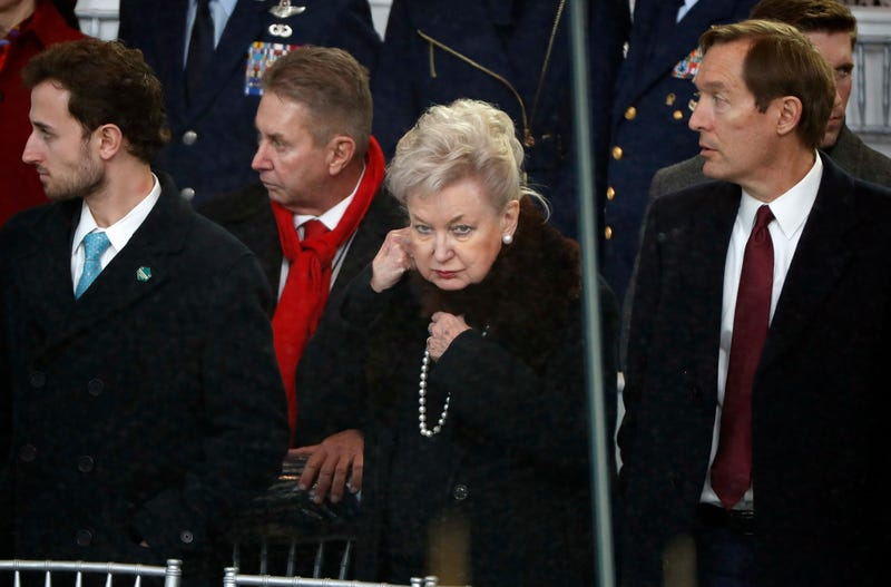 Federal judge Maryanne Trump Barry, sister of President Donald Trump, arrive to view the 58th Presidential Inauguration parade in Washington, Friday, Jan. 20, 2017.