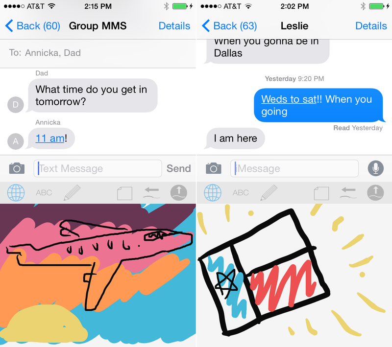 Illustration for article titled This iOS Keyboard Finally Lets You Draw Your Own Texts
