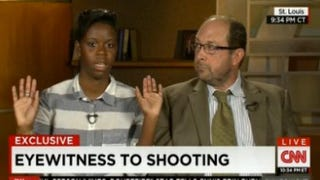 Tiffany Mitchell, flanked by her lawyer, tells CNN's Don Lemon her account of what took place between the police and Michael Brown, the unarmed teen who was fatally shot by a police officer in Ferguson, Mo. CNN screenshot