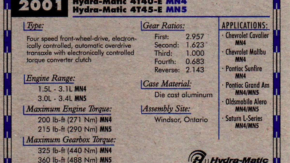 This Old Deck Of Gm Engine And Transmission Trading Cards Is 2001 Oldsmobile Alero 2 4 L Twin Cam Incredibly Nerdy