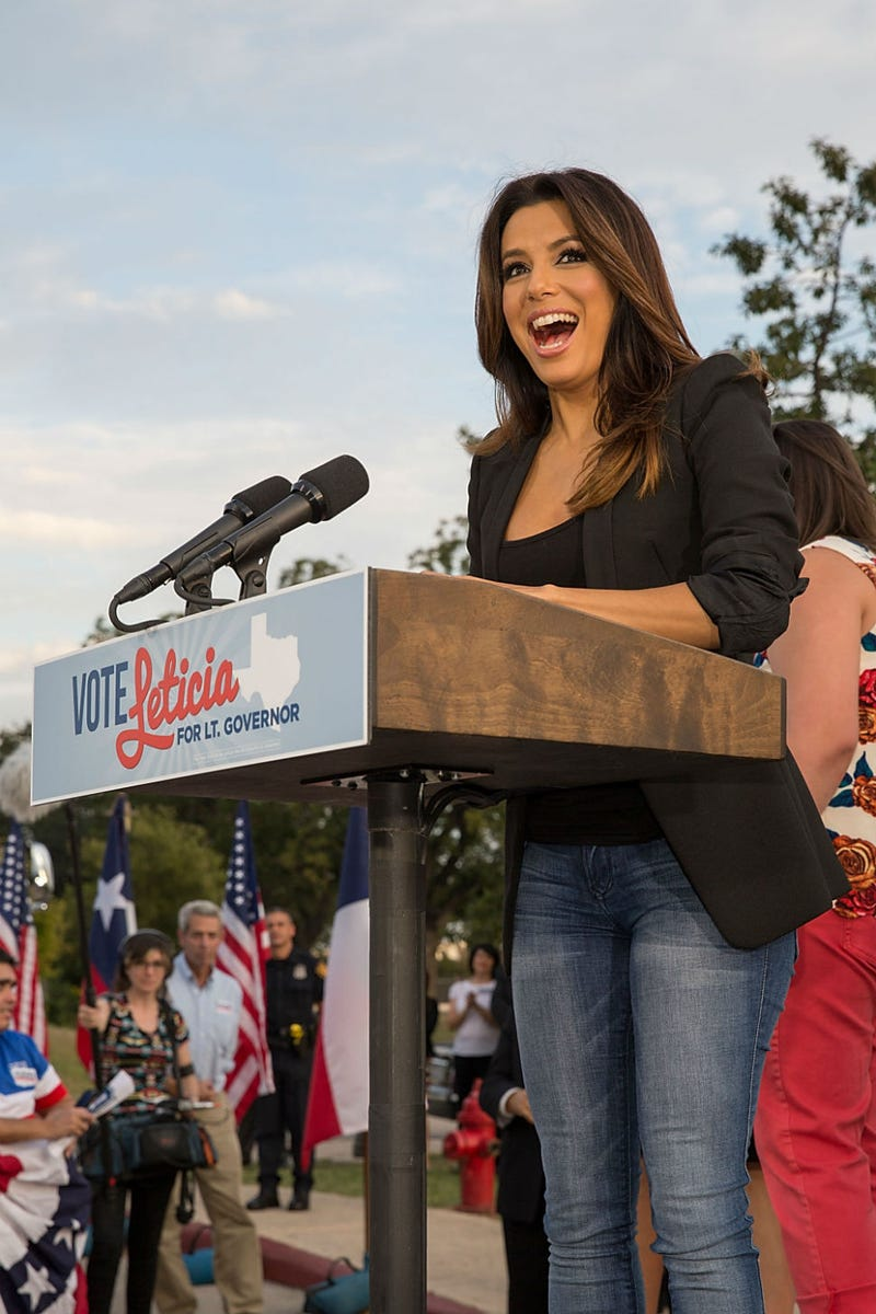 Illustration for article titled Help Eva Longoria Excite Folks About Voting By Captioning This Pic