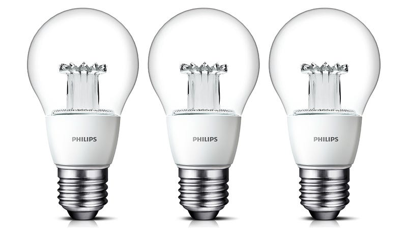 Illustration for article titled Philips' New Clear LED Bulbs Look Just Like Incandescents