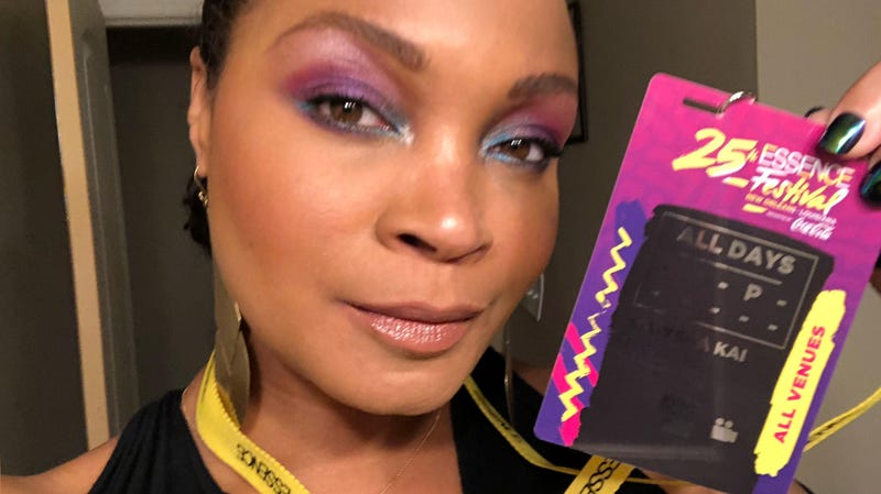 When your Essence Fest pass inspires an eye look...