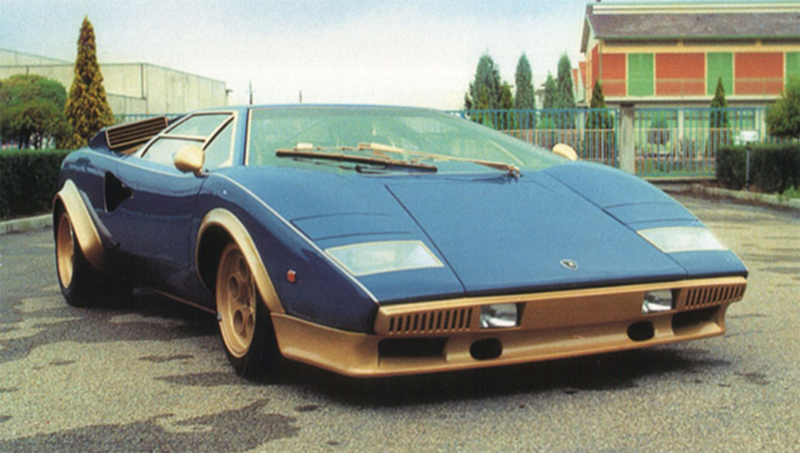 Illustration for article titled Blue & Gold Countach