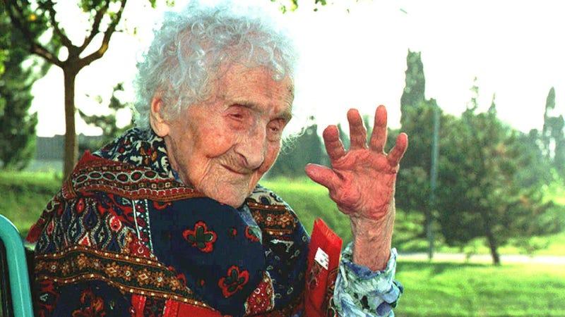 Jeanne Calment en 1995. Imagen: AP