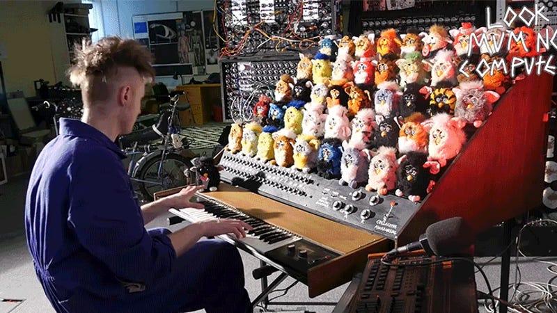 Man Redefines Horror By Building a Singing Furby Organ