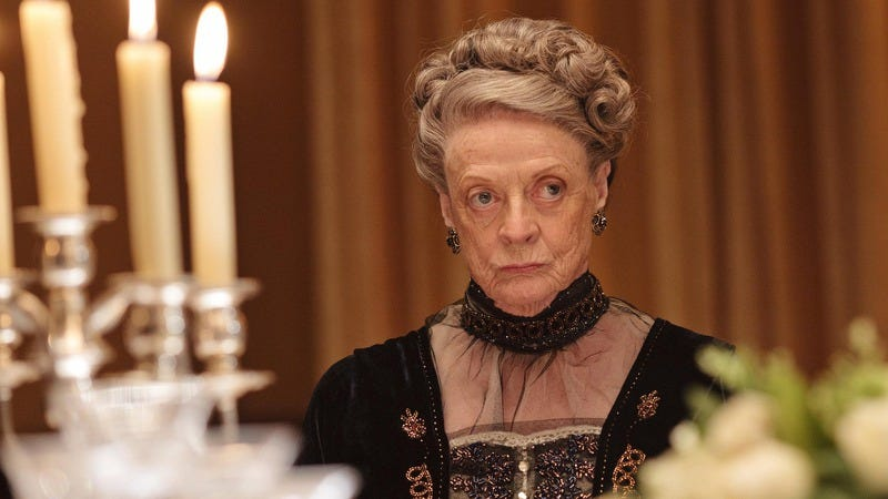Maggie Smith's Countess of Grantham, conveying her thoughts on this news