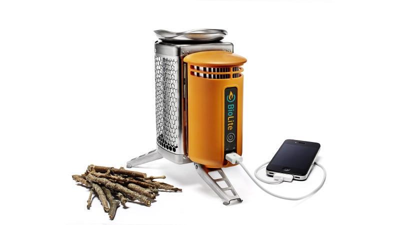 Illustration for article titled Charge Your iPhone with Burning Pine Cones