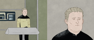 Illustration for article titled Miles O'Brien at work. TNG days.