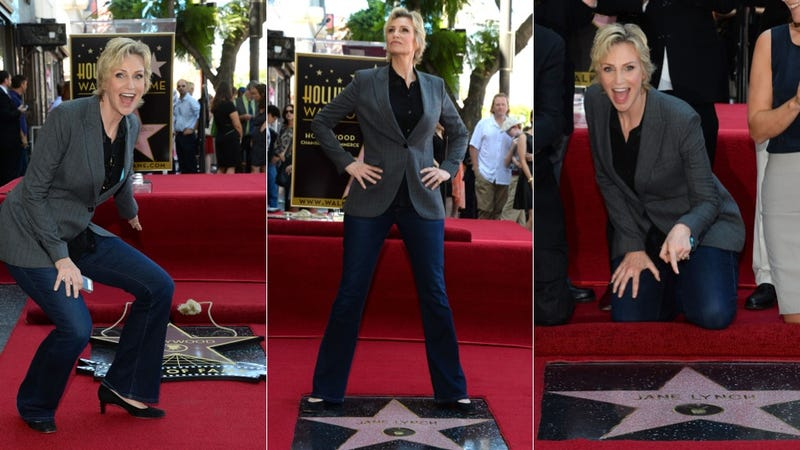Illustration for article titled Jane Lynch Getting a Star on the Walk of Fame Is the Best Thing