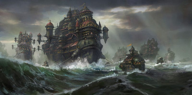 Illustration for article titled A Fleet Of Castles At Sea