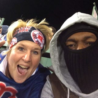 Illustration for article titled Rajon Rondo Was At The Red Sox Game And He Was Super Cold