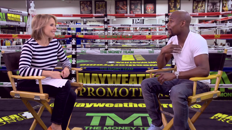 Illustration for article titled Why Is Katie Couric Letting Floyd Mayweather Smear His Victims?