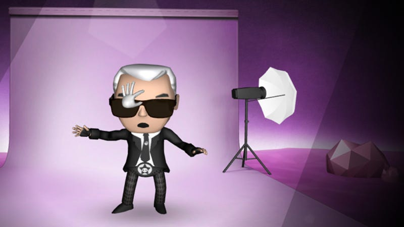 Illustration for article titled Steal That Asshole Karl Lagerfeld's Sunglasses in Bizarre New Game