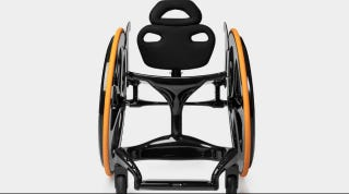 Illustration for article titled This Sleek Carbon Fiber Wheelchair Is What Professor X Would Use