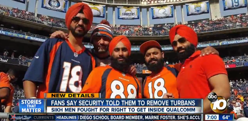 Illustration for article titled Sikh Fans Refused Entry To Chargers Stadium Because Of Their Turbans