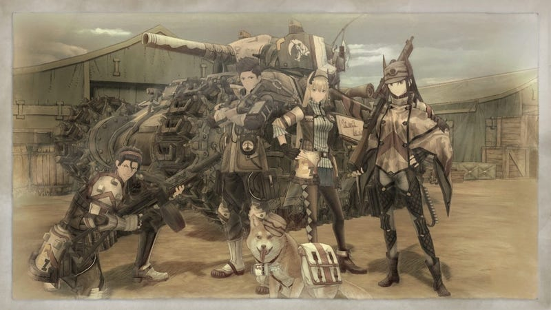 The Valkyria Chronicles 4 main characters - Raz is on the left and he's a whiny incel