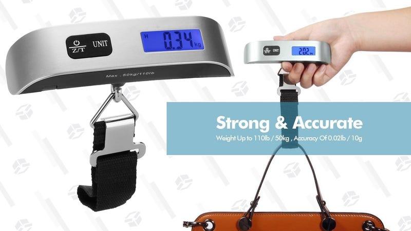 Báscula de equipaje Dr. Meter   $6   Amazon   Usa el código WO2N6ORR