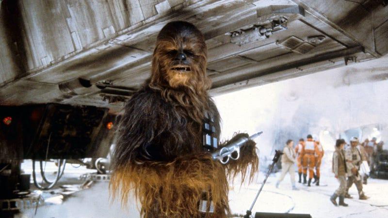 Chewbacca durante el rodaje de Star Wars: Episodio V - El Imperio Contraataca. Imagen: Lucasfilm