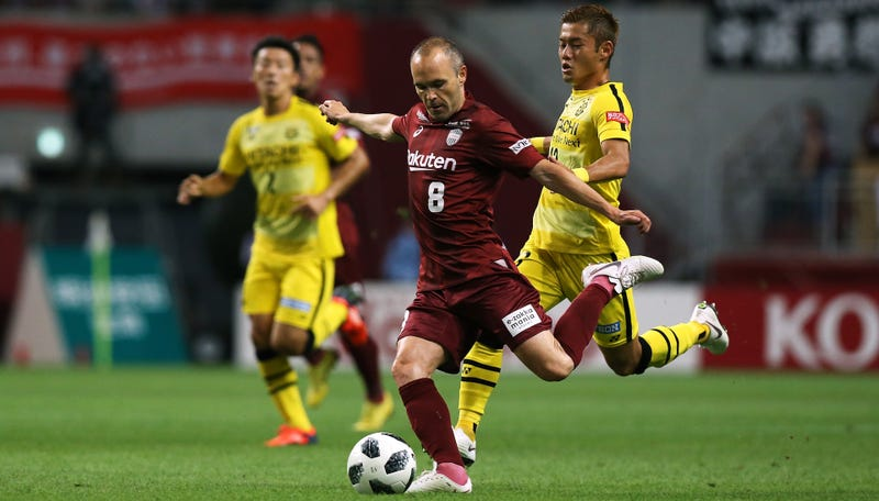 Illustration for article titled Andrés Iniesta Has Moved To Japan And Become A Golazo-Scoring Fiend