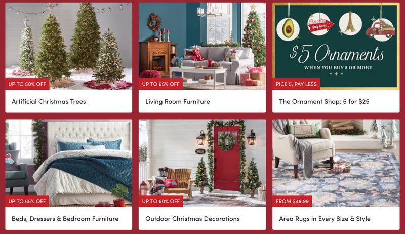 wayfair holiday sale graphic wayfair
