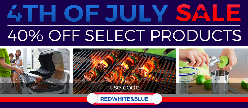 40% off select products, promo code REDWHITE&BLUE