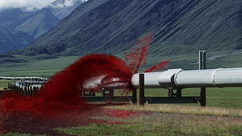 Illustration for article titled 45 Million Gallons Of Crude Blood Lost In Red Cross Pipeline Rupture
