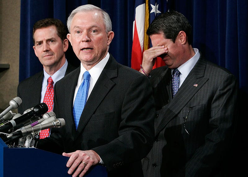 Jeff Sessions (R-Ala.), at podium, in  2007  (Alex Wong/Getty Images)