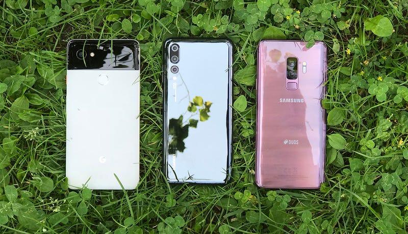 Illustration for article titled Hemos puesto a un inútil a tomar fotos con el Pixel 2XL, el Galaxy S9+ y el Huawei P20 Pro. Este es el resultado