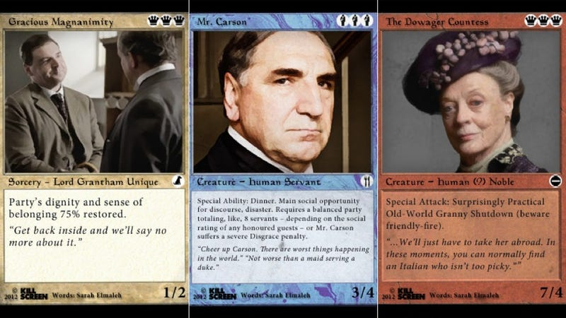 Illustration for article titled Downton Abbey Meets Magic: The Gathering, and It Is Glorious