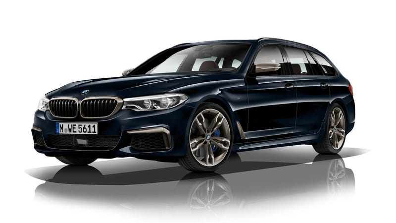 Illustration for article titled The Quad-Turbo BMW M550d xDrive Comes From An Alternative Universe Where Diesel Wagons Roam Free