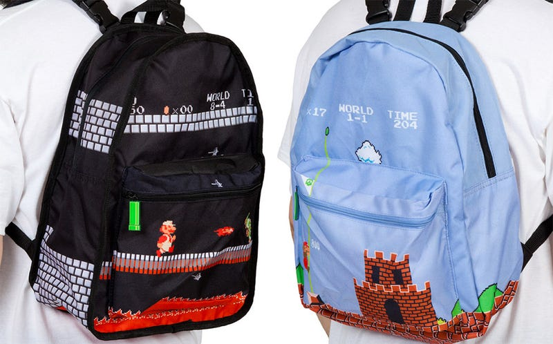 Illustration for article titled One Backpack, Two Super Mario Levels