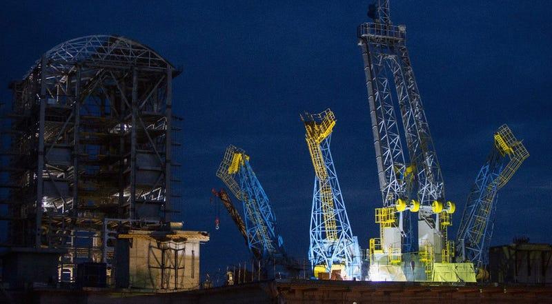 Illustration for article titled El nuevo cosmódromo ruso en construcción se deja ver en fotos épicas