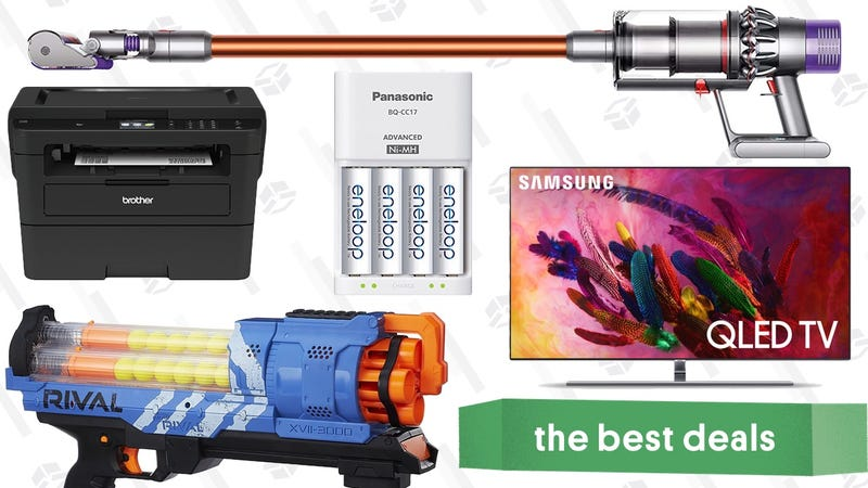 Illustration for article titled Monday's Best Deals: Samsung's Best TVs, YETI Hopper, Nerf Guns, and More