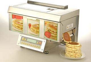 Illustration for article titled ChefStack Automatic Pancake Machine Celebrates Gluttony