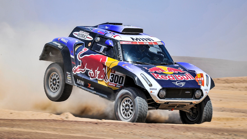 An X-Raid Mini in the 2019 Dakar Rally
