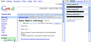 Illustration for article titled GmailAgenda Puts GCal in Your Gmail