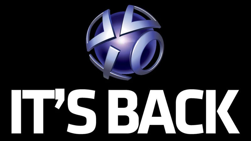 Illustration for article titled The PlayStation Network Is Back in Action