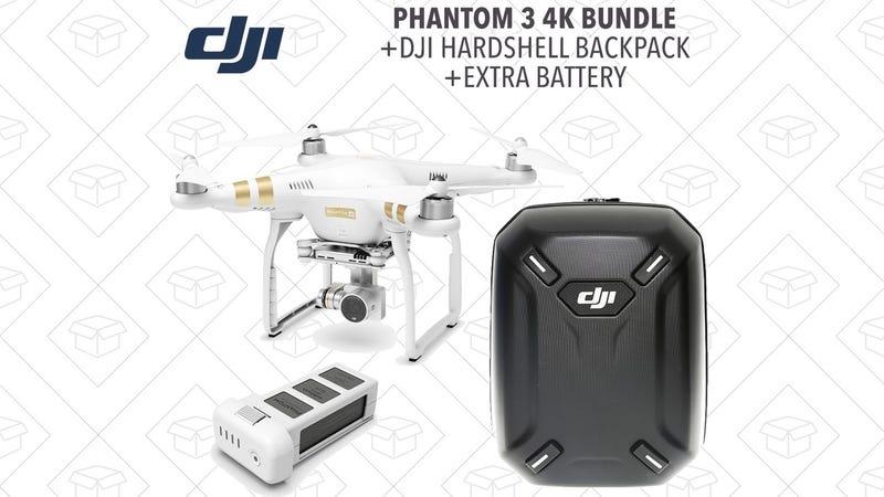 Phantom 3 4K + Extra Battery + Backpack, $600