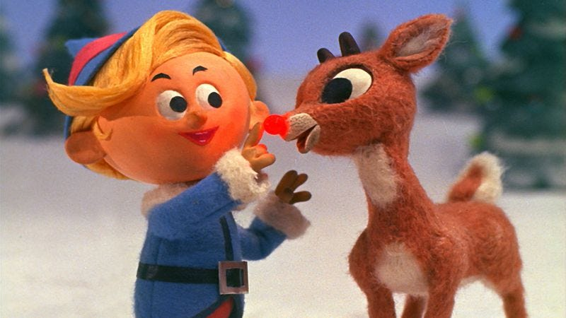 Hermey and Rudolph in Rankin-Bass' 1964 special Rudolph The Red-Nosed Reindeer