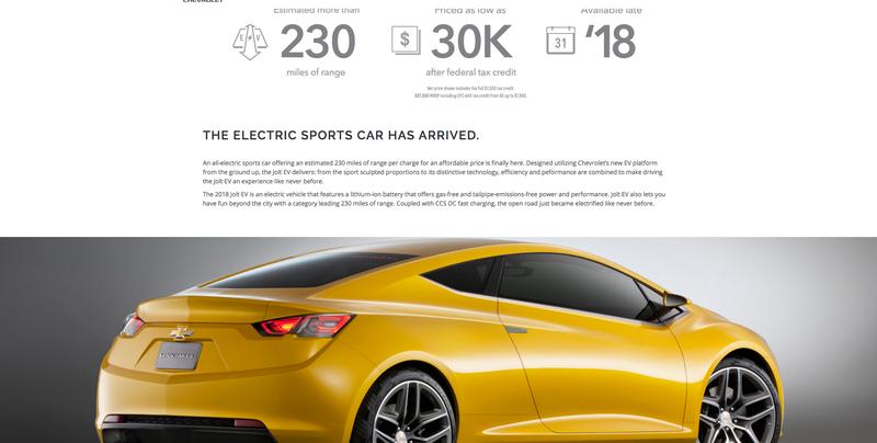 Hayır Gm Chevrolet Jolt Adında Bir Elektrikli Spor Araba Yapmıyor